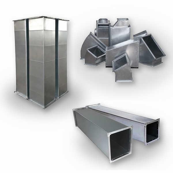 Прямоугольные воздуховоды и фасонные части
