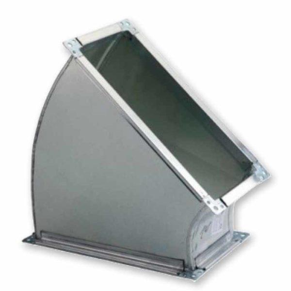 отвод прямоугольный для воздуховода