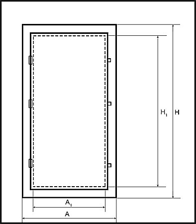 чертеж двери для вентиляции