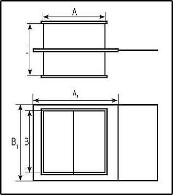 шибер прямоугольный для воздуховодов